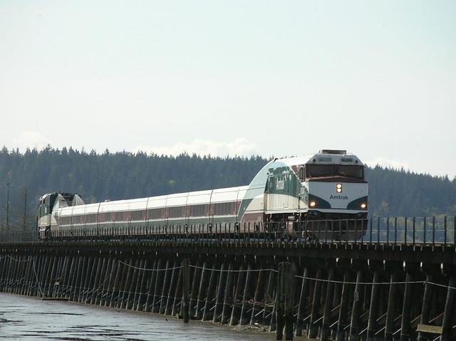 Amtrak Cascades Mud Bay Surrey BC 08-04-2005 10-28AM