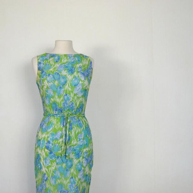 BCBGMAXAZRIA emerald jersey floral print tulip dress | BLUEFLY up