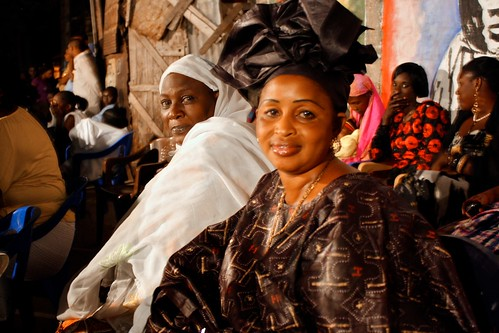 <p>Penda Diallo smiles at the accomplishments of her daughters, who have thrown a magnificent party.</p>