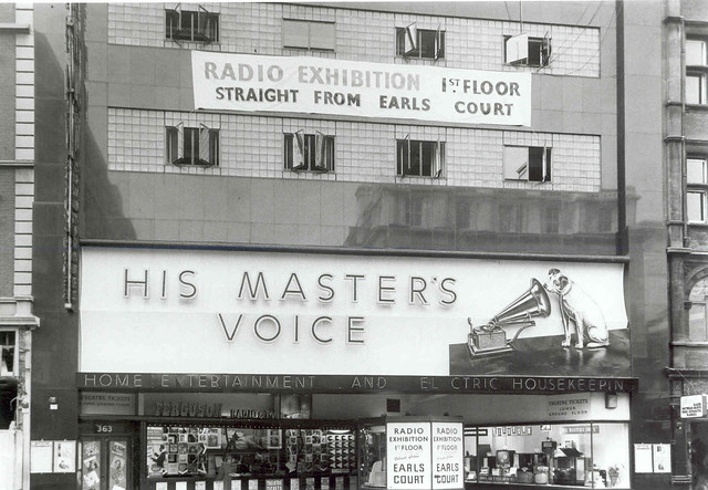 hmv 363 Oxford Street, London 1950s