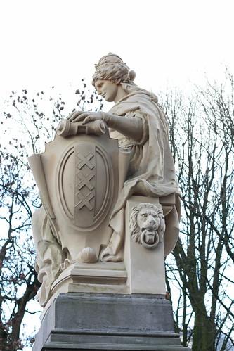 Estátua de Amsterdam no Vondelpark