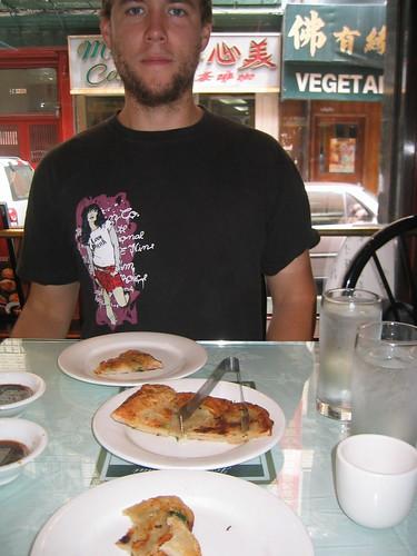 Tim and scallion pancakes