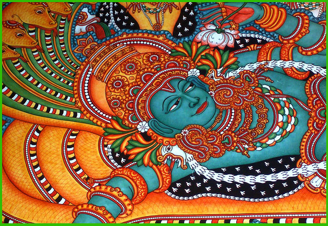 Ananthasayanam flickr photo sharing for Ananthasayanam mural painting