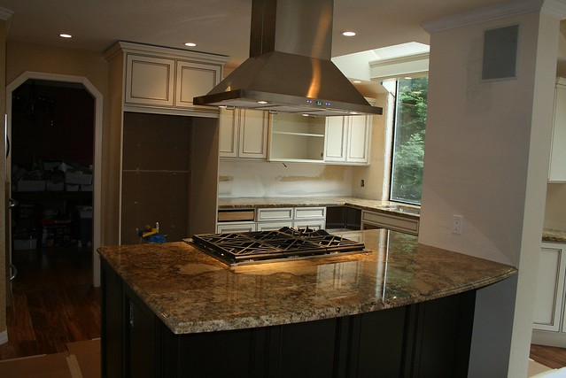kitchen island with hood and cooktop flickr photo sharing