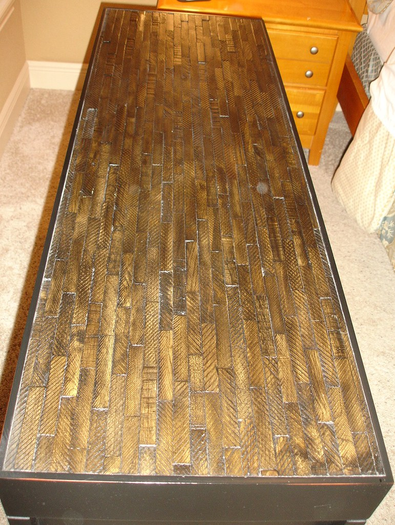 Sofa table / foyer table in dark wood | Use as a foyer table ...