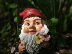 carving, decor, flower, garden gnome, lawn ornament, figurine, statue,