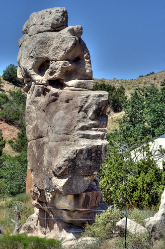 newmexico stone head gardenofthegods nm joeldeluxe shape hdr stoneface bolders gallisteo north14 neargallisteo