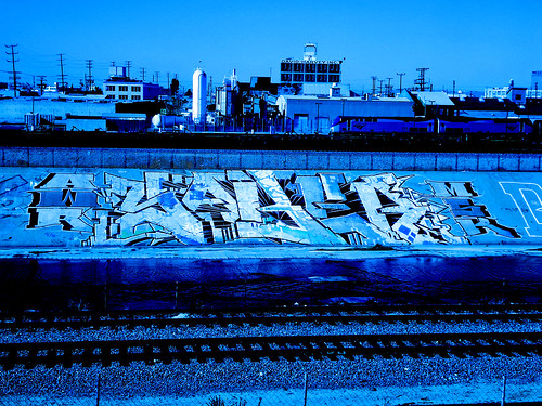 Saber Blue AWR MSK SeventhLetter LosAngeles River Graffiti Art