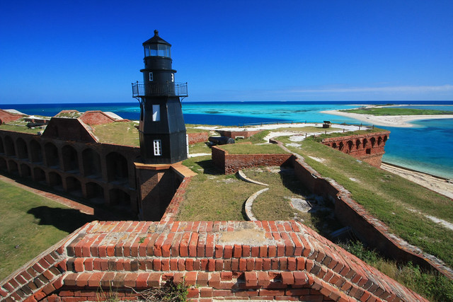 Fort Jefferson Lighthouse Garden Key Dry Tortugas National Park Gulf Of Mexico Monroe