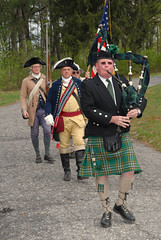 people, kilt, costume, bagpipes,