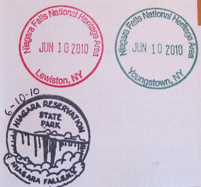 niagara falls nha cancellation stamps from new york state