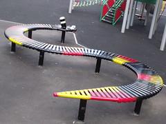 Highgate Park - Playground - Snake bench