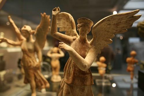 Winged victory figurine