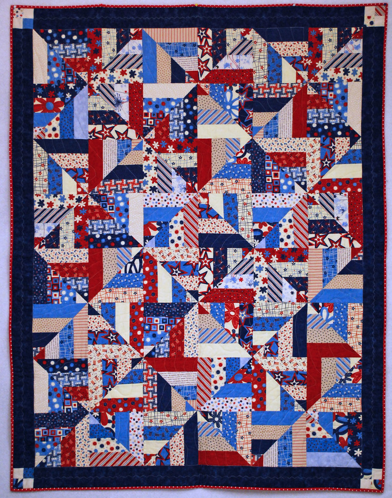 Quilt Patterns For Quilts Of Valor : - The Quilter -: Strip Twist Quilt of Valor