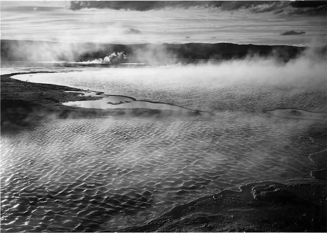 Fountain Geyser Pool, Yellowstone, Ansel Adams