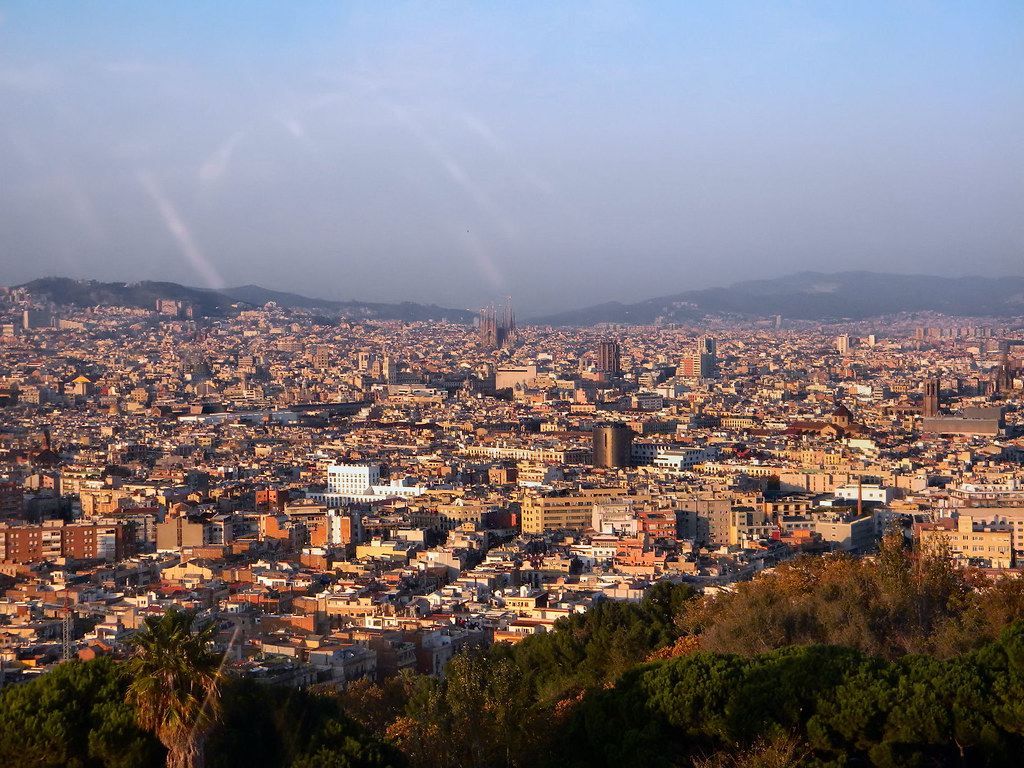 Montjuic hill barcelona photo