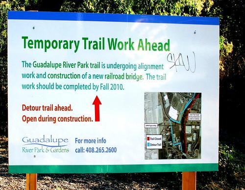 Guadalupe River Trail detour