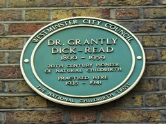 Photo of Grantly Dick-Read green plaque