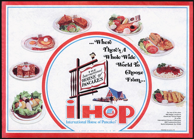 iHOP Vintage advert. Companies started in a Recession.