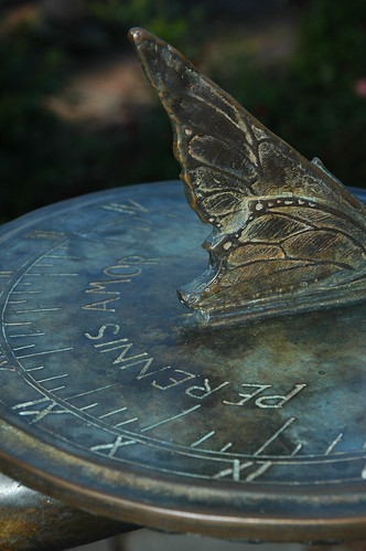 Butterfly Sundial, Cranford Rose Garden, Brooklyn Botanic Garden, June 6, 2007 by Flatbush Gardener