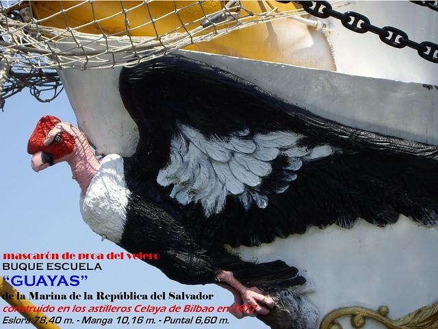 BUQUE ESCUELA GUAYAS mascaron de proa 066