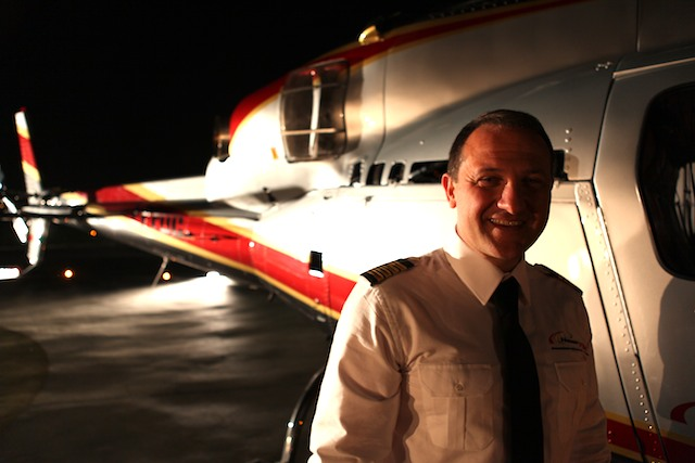 Elicottero Mediaset : Volo in notturna shooting per fenomenal la nuova