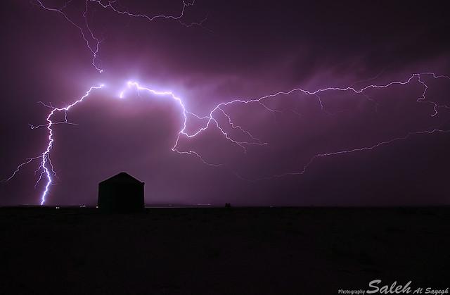 Buraydah lightning storm