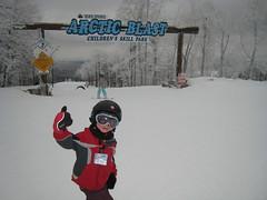 Downhill skiing at Seven Springs