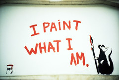 I paint what I am