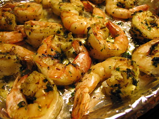broil shrimp with zhough