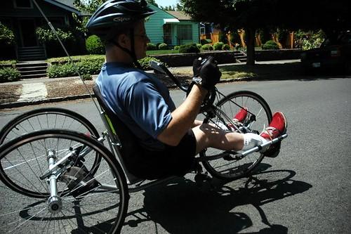 Handcycle ride wth Ian Jaquiss