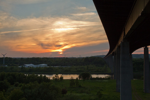 bridge sunset sonnenuntergang motorway days tage 365 brücke rendsburg nordostseekanal abendrot autobahnbrücke project365 projekt365