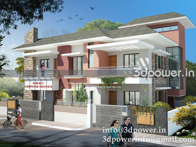3d modeling_3d rendering_row houses_india_www.3dpower.in_twin ...
