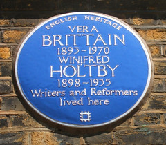 Photo of Vera Brittain and Winifred Holtby blue plaque
