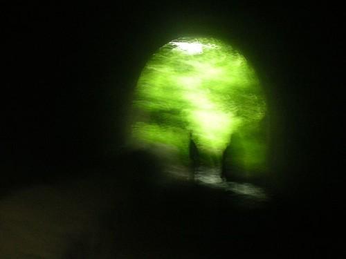 Through the tunnel, nearing Battle