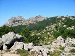 Capellu et Capellucciu au-dessus des bergeries de Bitalza
