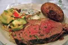 meal, breakfast, steak, vegetable, pork chop, rib eye steak, beef tenderloin, food, dish, cuisine, roast beef,