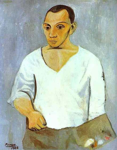 Pablo Picasso - Self-Portrait with a Palette
