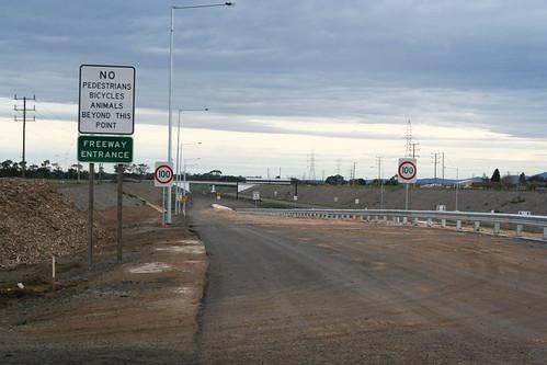 Midland Highway onramp Melbourne bound