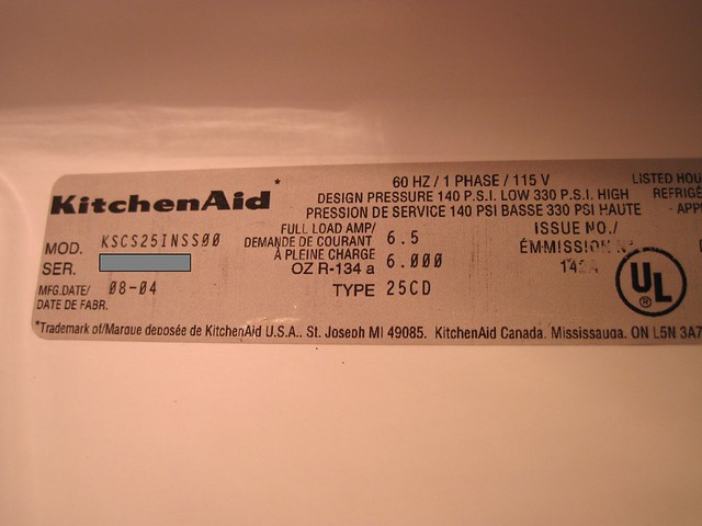 Kitchen Aid Dishwasher Serial Number F Parts