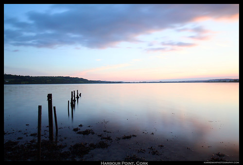 ireland sunset beach water canon point 350d coast long exposure quiet peace harbour cork peaceful estuary serene poles tamron rods lcw 1118mm nd500 lightcraftworkshop gloynes