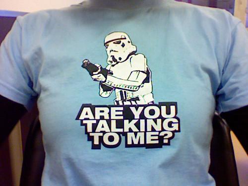 Una de mis camisetas de Star Wars :)