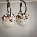 Ivory, Brown and Copper Earrings with Felt and Pearls - More - by <vaida>