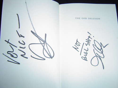 Penn & Teller Autographed 'The God Delusion' #2