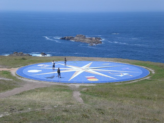 Compass mosaic at Tower of Hercules, A Coruña