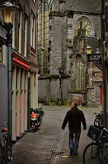 Enge Kerksteeg Narrow Church Alley / Red light District Amsterdam