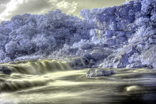 park sun hot water canon river ir outdoors 350d waterfall texas state hiking country hill falls adventure infrared hdr pedernales dir digitalinfrared tpwd 720nmcutoff