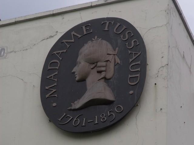 Photo of Marie Tussaud bronze plaque