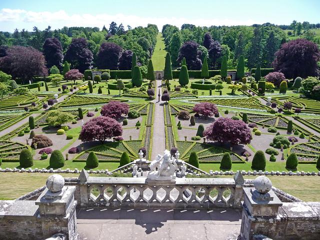 Drummond Castle Gardens, Crieff, Perthshire, Scotland