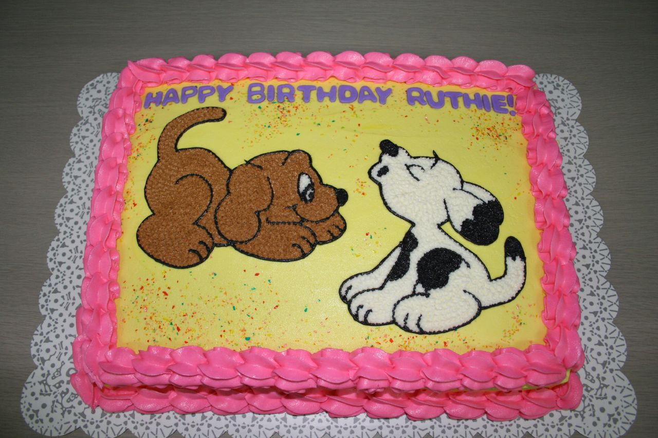 Puppy Birthday Cake A Photo On Flickriver